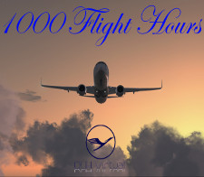 1000 Flight Hours - given for completing 1000 Flight Hours for DLHv