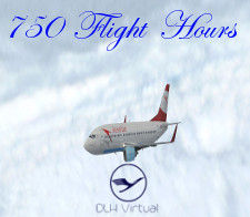 750 Flight Hours - given for completing 750 Flight Hours for DLHv