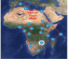 African Tour - given for completing the African Tour 2019