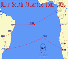 South Atlantic Tour 2020 - given for completing the South Atlantic Tour 2020