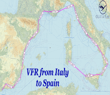 VFR Italy to Spain Tour - given for completing the VFR Italy to Spain 2019