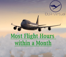 Most Flight Hours within a Month - given for completing the most Flight Hours within a Month