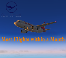 Most Flights within a Month - given for completing the most Flights within a Month